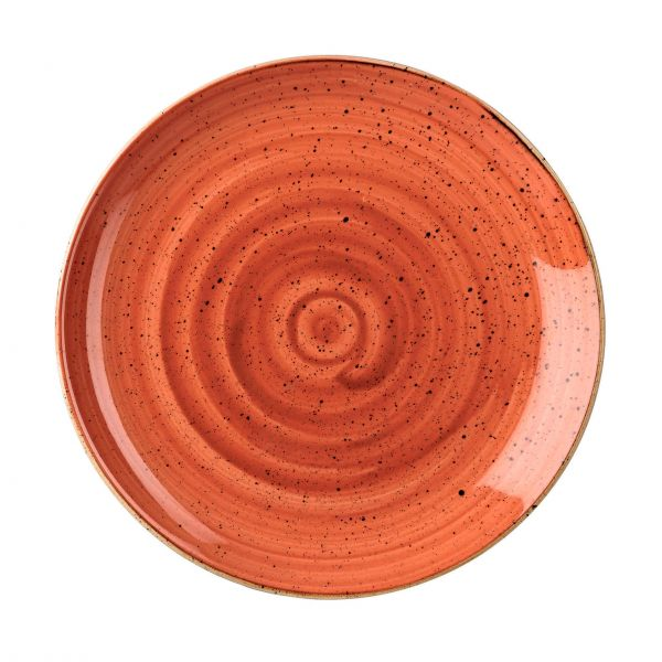 Churchill Tallerken Stonecast Spiced orange Ø 26 cm