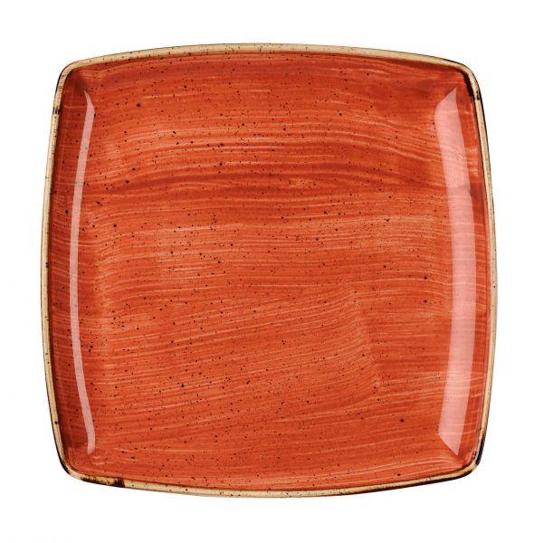 Churchill Tallerken Stonecast Spiced orange 26,8 x 26,8 cm