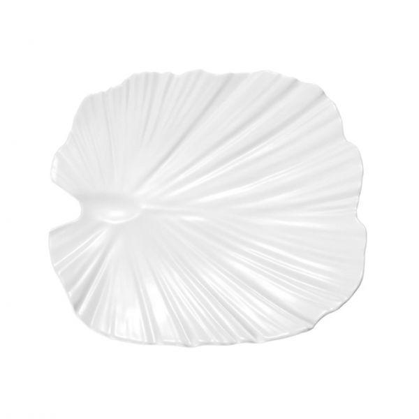 APS Fad palmeblad H 4,5 cm 35 x 34 cm hvid melamin