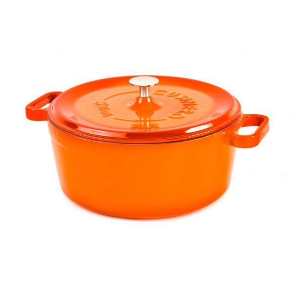 Silver støbejernsgryde orange 45 cl
