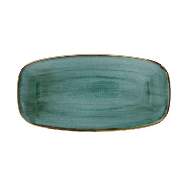 Churchill Tallerken Stonecast Samphire grøn 29,8 x 15,3 cm