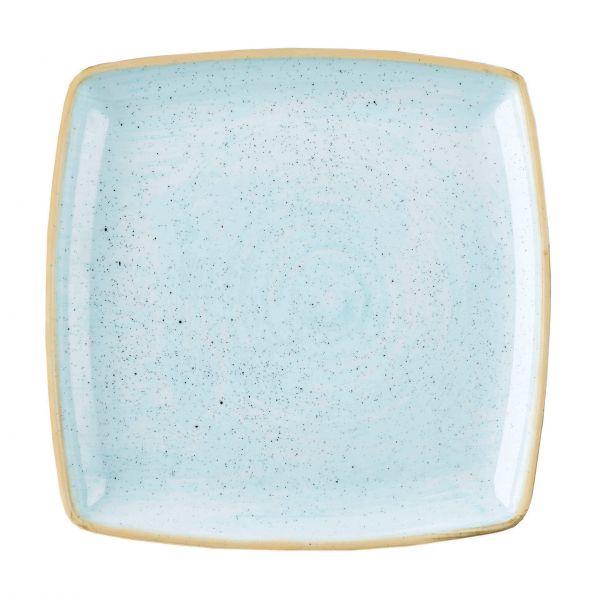 Churchill Tallerken Stonecast Duck egg blue, kvadratisk