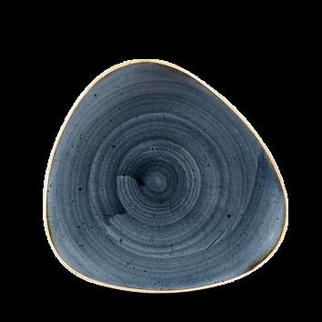 Churchill Tallerken Stonecast Blueberry Blue trekantet