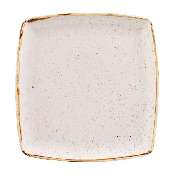 Churchill Tallerken Stonecast Barley white, firkantet