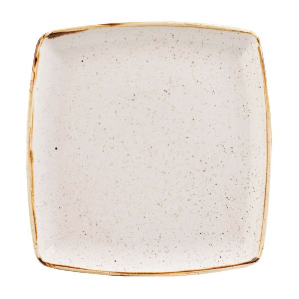 Churchill Tallerken Stonecast Barley white 26,8 x 26,8 cm