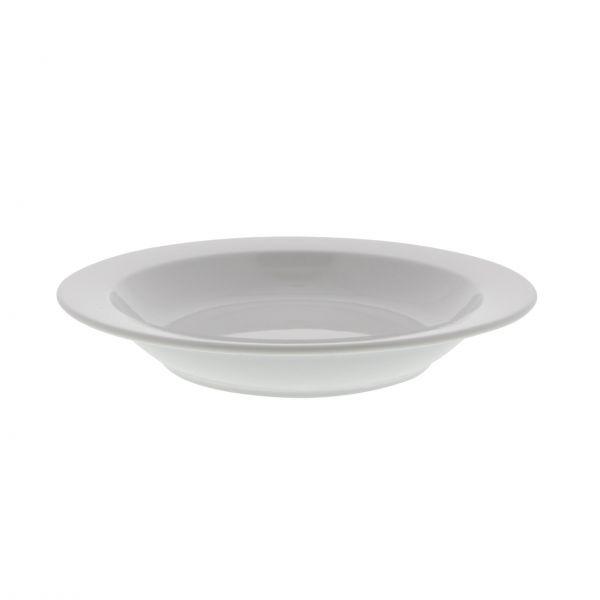 Base elements Tallerken Kim dyb med fane Ø 21,5 cm, hvid