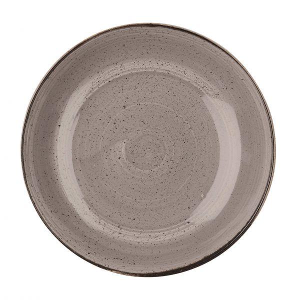 Churchill dyb tallerken Stonecast Peppercorn grey 240 cl