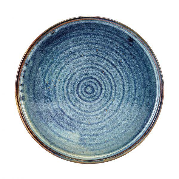 Genware Tallerken Auqua Blue med kant Ø 21 cm