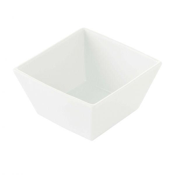 Aida Skål Quadro firkantet hvid