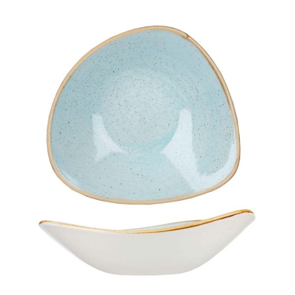 Churchill Skål Stonecast Duck egg blue, trekantet