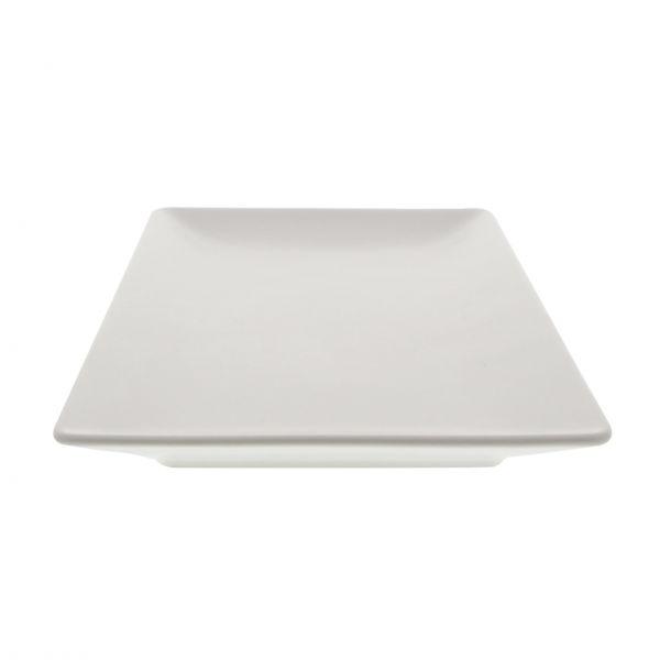 Aida Tallerken Quadro, mat hvid, stoneware