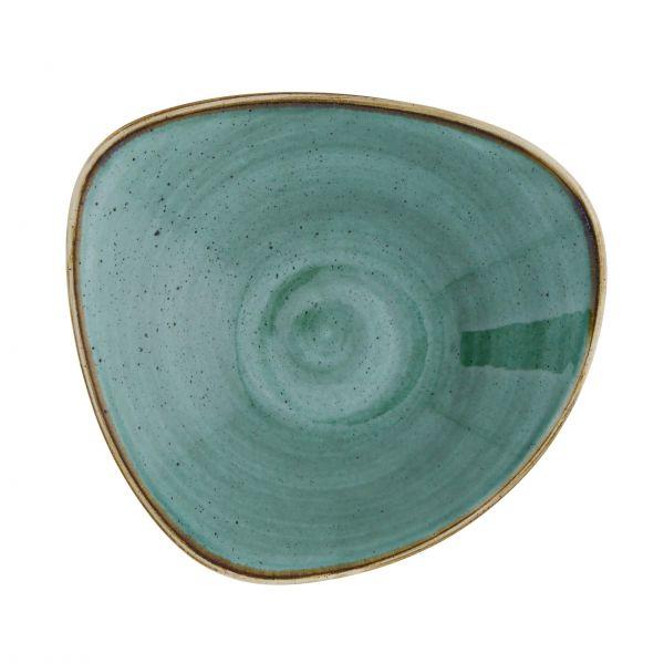 Churchill Skål Stonecast Samphire grøn trekantet