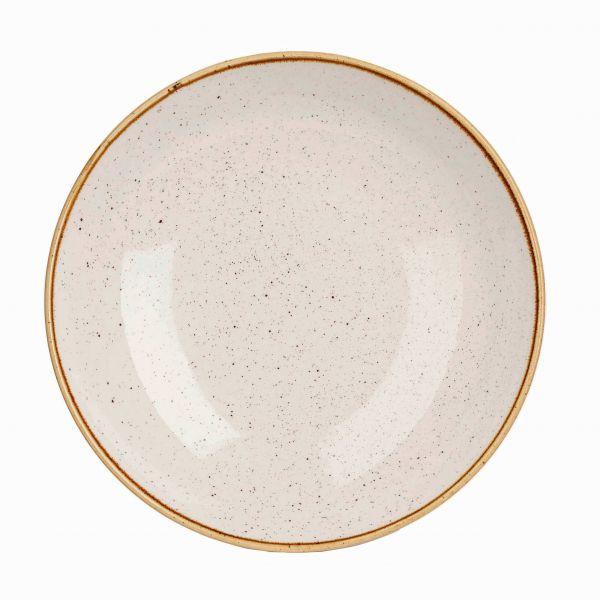 Churchill dyb tallerken Stonecast Barley white 240 cl